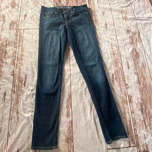 American Eagle dark wash skinny denim jeans-size 6-guc